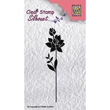 Nellie Snellen Clearstamp - Silhouet / Flower 11