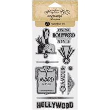 Graphic45 Cling Stamp Set - Vintage Hollywood #3