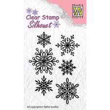 Nellie Snellen Clearstamp - Snowflakes