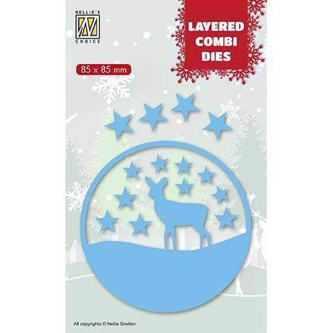 Nellie Snellen Layered Combi Die - Christmas Deer C