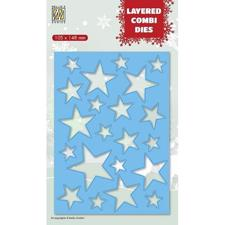 Nellie Snellen Layered Combi Die - Christmas Stars A