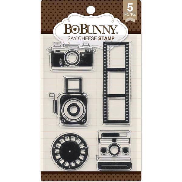 Clear Stamp Set - Bo Bunny / Say Cheese (cameras)