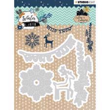 Studiolight Die - Winter Joys / Snowflake, Banner & Deer