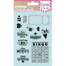 Studiolight Clear Stamp & Die Set - Ticket (billet)