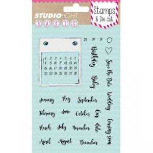 Studiolight Clear Stamp & Die Set - Calendar (kalender)
