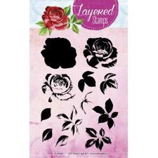 Studiolight Clear Stamp - Layered Stamps No. 03 (rose)