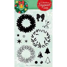 Studiolight Clear Stamp -Christmas Layered Stamps No. 12 (krans)