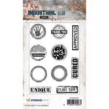 Studiolight Clear Stamp - Industrial Signs
