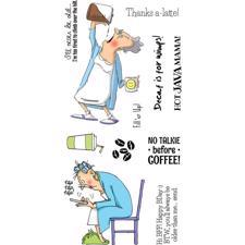 Art Impressions Clear Stamp Set - Hot Java Mama
