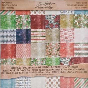Tim Holtz Paper Pad - Paper Stash Holiday Past