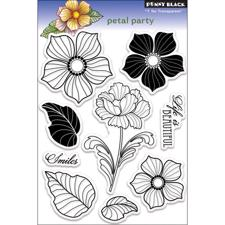 Penny Black Clear Stamp Set -  Petal Party