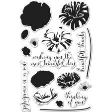 Hero Arts Clear Stamp Set - Color Layering / Poppy