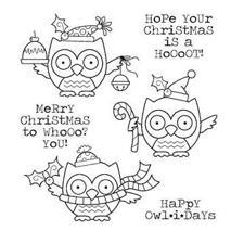 Darcie's Cling Stamp Set - Happy Owlidays