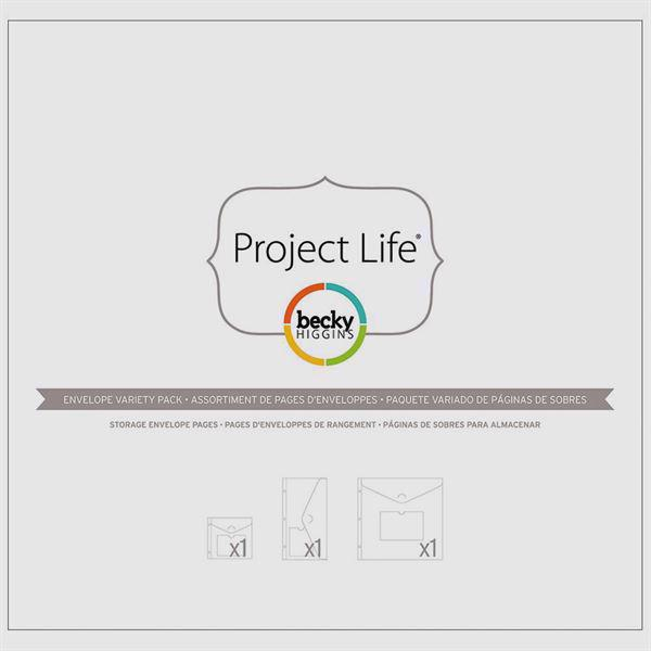 Project Life Big Envelope Pages - Variety Pack (3 stk.)