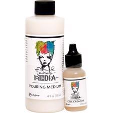 Dina Wakley Media - Pouring Acryl / Pouring Medium & Cell Creator Set