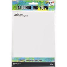 Tim Holtz Alcohol Ink YUPO Paper - White 144 lb Heavystock