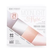 "Craft Perfect (Tonic)6x6"" Mirror Card Pack - Moonlight Rose"