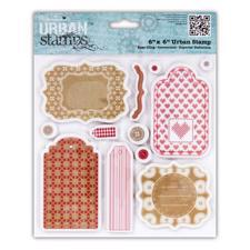 Cling Stempel - Papermania / Set - Tags