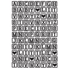 KaiserCraft Embossing Folder - ABC Blocks