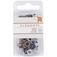 "American Crafts Eye-Lets 3/16"" - Elements Metallic"
