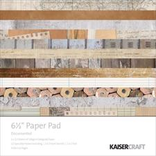 "Kaisercraft Scrapbook Paper Pad 6,5x6,5"" - Documented"