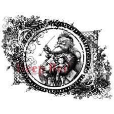 Cling Stempel - Deep Red / Vintage Santa