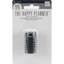 "Happy Planner - Discs (ringe) MINI (0.75"") Black"