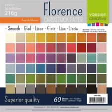 "Vaessen Creative Florence 12x12"" Cardstock Multipack - 60 ark Smooth"