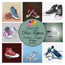 Dixi Craft Square Toppers - Sneakers