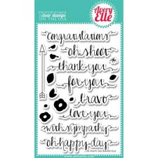 Avery Elle Clear Stamp - Happy Day