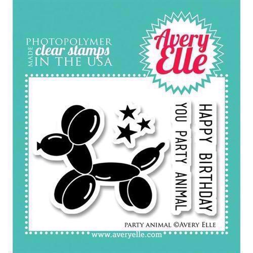 Avery Elle Clear Stamp - Party Animal