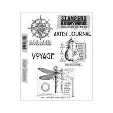 Tim Holtz Cling Rubber Stamp Set - Classics #1