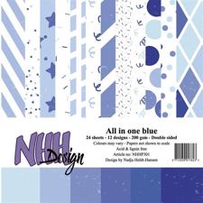 NHH Paper Pad 15x15 cm - All in One Blue