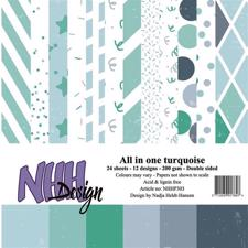 NHH Paper Pad 15x15 cm - All in One Turquoise