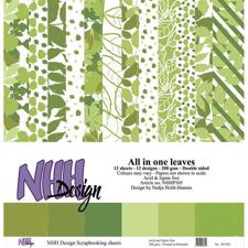 NHH Paper Pad 30x30 cm - All in One Leaves (stor)