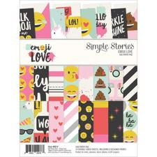 "Simple Stories Paper Pad 6x8"" - Emoji Love"