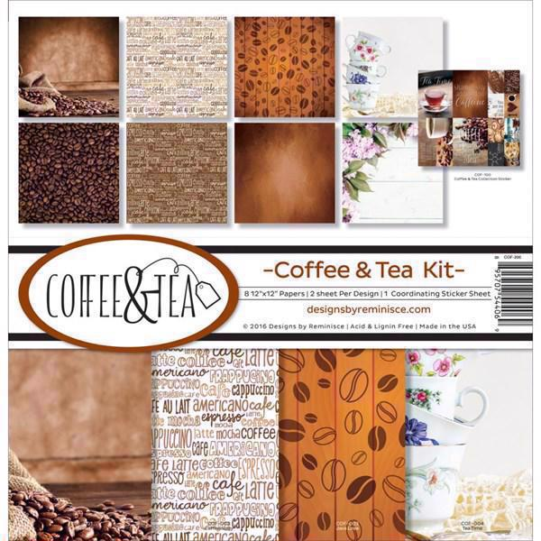 "Ella & Viv Collection Pack 12x12"" - Coffee & Tea"