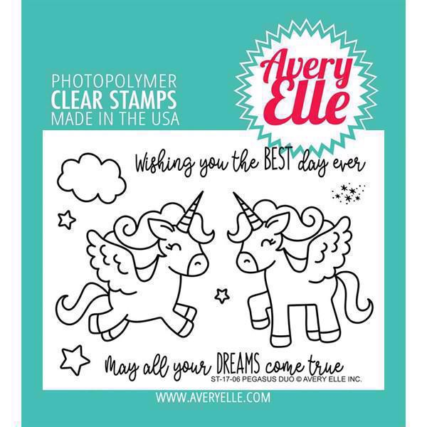 Avery Elle Clear Stamp - Pegasus