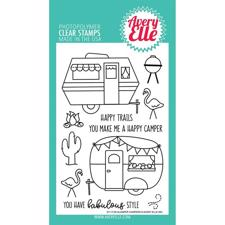Avery Elle Clear Stamp - Glamper Campers