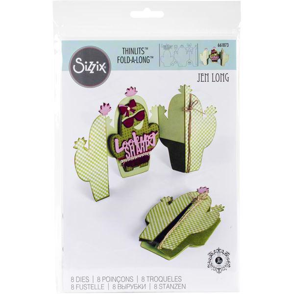 SizzixThinlits Die Set - Fold-a-Long Card / Cactus