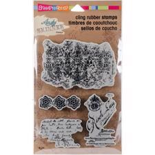 Stampendous Cling Stamp Set - Andy Skinner / Textures