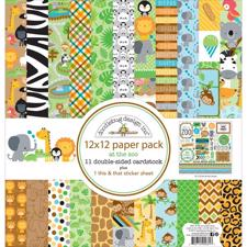 "Doodlebug Design Paper PACK 12x12"" - At the Zoo"