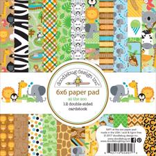 "Doodlebug Design Paper Pad 6x6"" - At the Zoo"