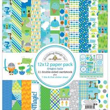 "Doodlebug Design Paper PACK 12x12"" - Dragon Tail"
