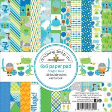"Doodlebug Design Paper Pad 6x6"" - Dragon Tail"