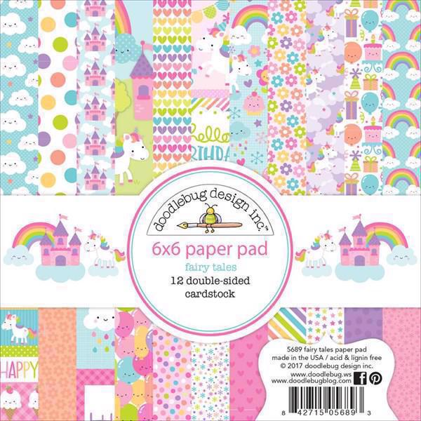 "Doodlebug Design Paper Pad 6x6"" - Fairy Tale"