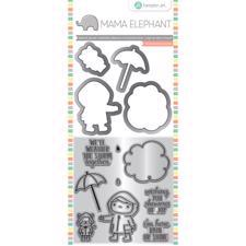 Mama Elephant / Hampton Art Clear Stamp & Die Set - Showers Of Joy