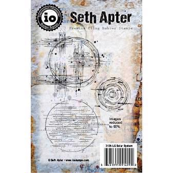 IO Stamps Cling Stamp - Seth Apter / Solar System