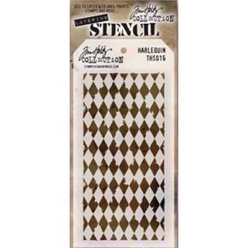Tim Holtz Layered Stencil - Harlequin