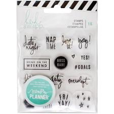 Heidi Swapp Planner System - Clear Stamps / Weekend